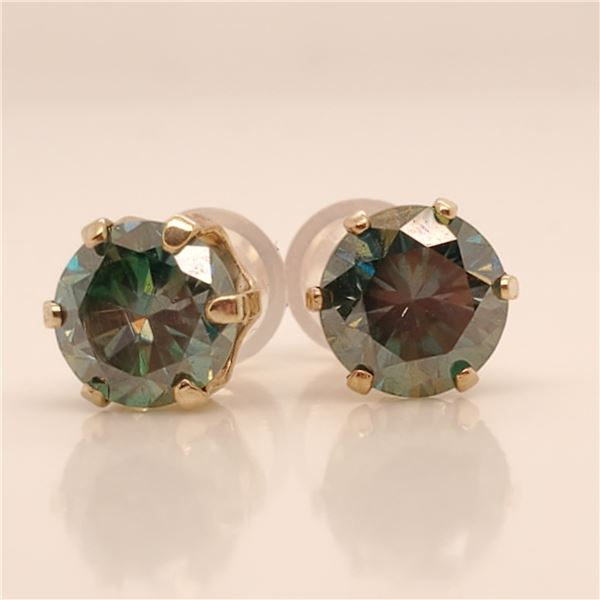 14K MOISSANITE(1.6CT) EARRINGS