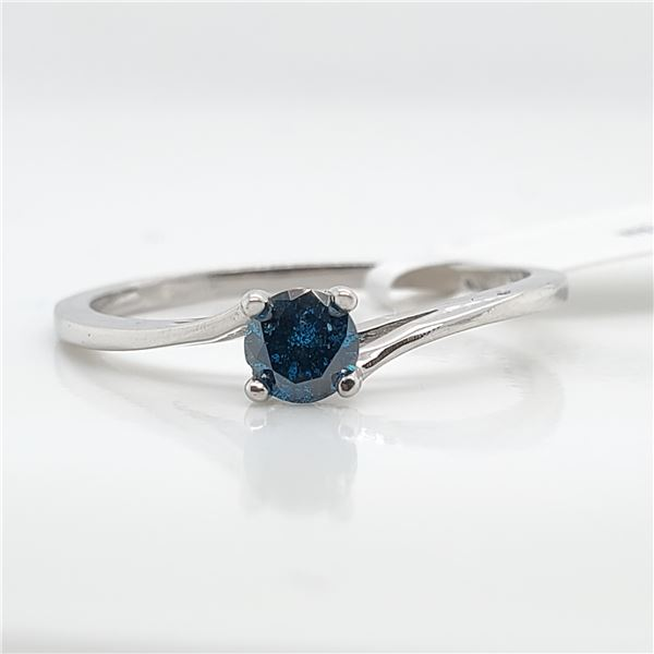 10K BLUE DIAMOND(0.23CT) RING SIZE 6