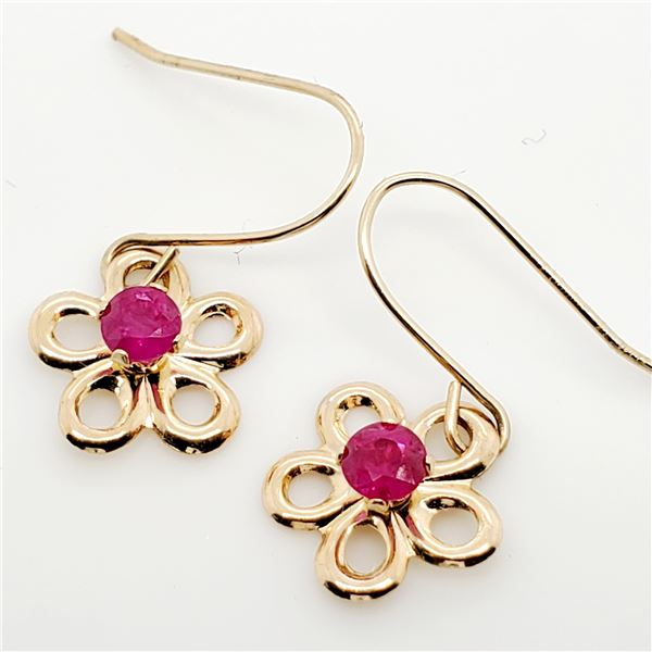 14K RUBY(0.21CT) EARRINGS