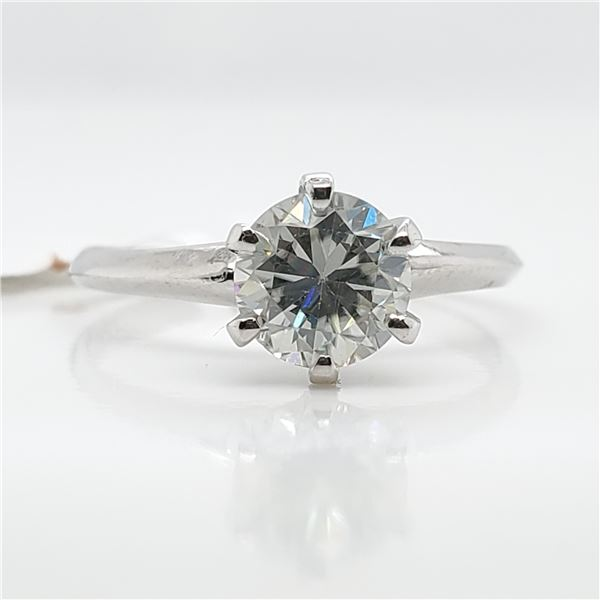 10K MOISSANITE(0.78CT) RING SIZE 6.5