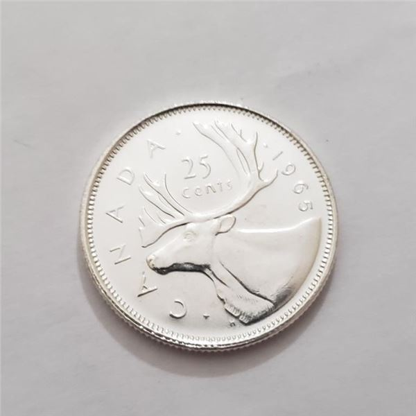 SILVER CANADA $25 CENTS COIN