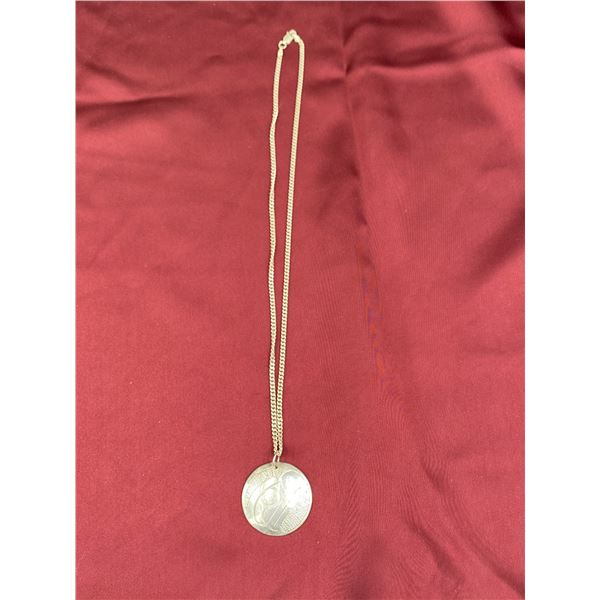 .925 SILVER NECKLACE WITH FIRST NATIONS WEST COAST PENDANT