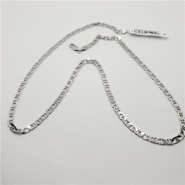 """SILVER 20.14G  22"""" GUCCI LINK  NECKLACE"""