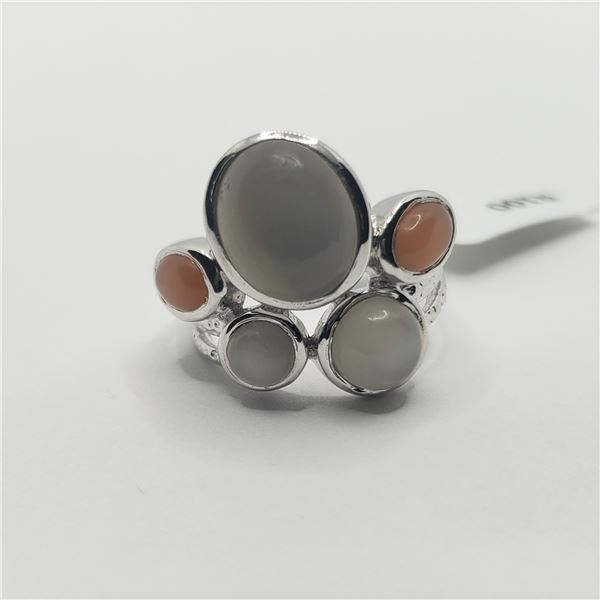 SILVER MOONSTONE(8CT) RING