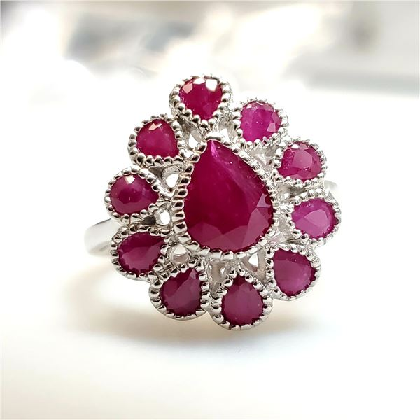 SILVER RUBY(3.1CT) RING