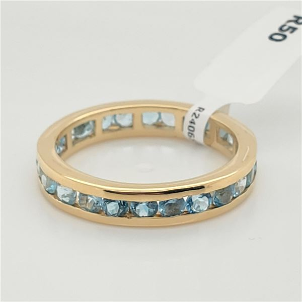 SILVER BLUE TOPAZ(2.4CT) RING