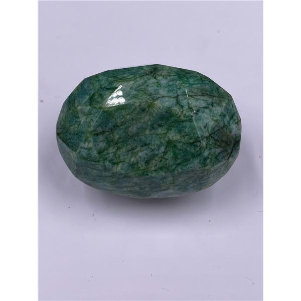 QUALITY ROUGH MINERAL POLISHED EMERALD 442.65CT - 88.53G, 48 X 35 X 31MM, BRAZIL