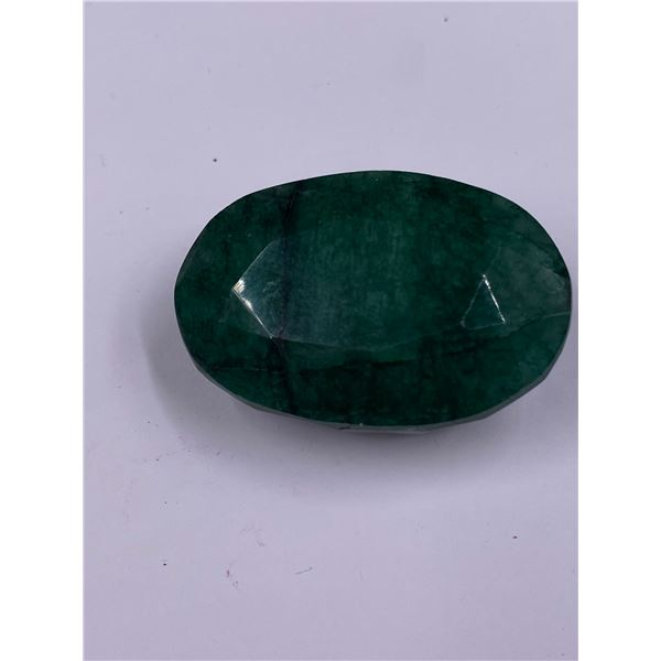 QUALITY ROUGH MINERAL POLISHED EMERALD 212.20CT - 42.44G, 45 X 30 X 21MM, BRAZIL