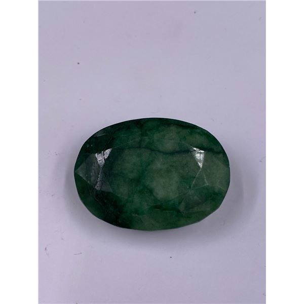 QUALITY ROUGH MINERAL POLISHED EMERALD 159.40CT - 31.88G, 40 X 30 X 17MM, BRAZIL
