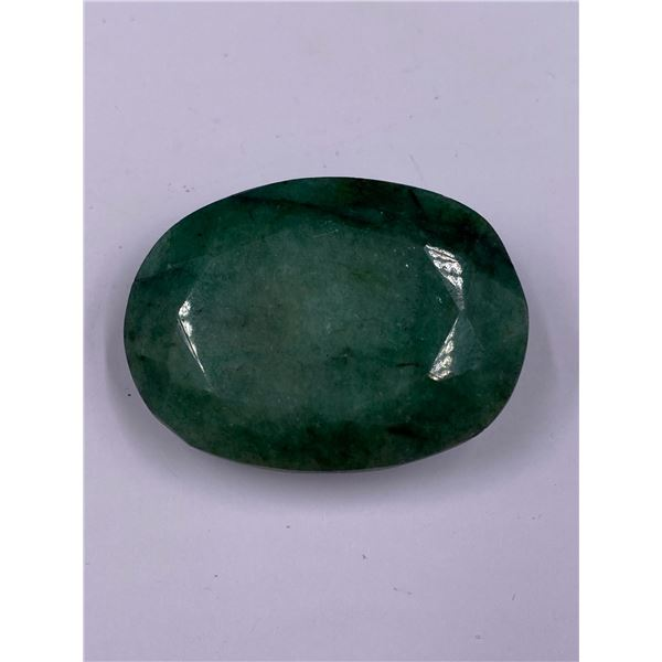 QUALITY ROUGH MINERAL POLISHED EMERALD 149.05CT - 29.81G, 42 X 30 X 15MM, BRAZIL