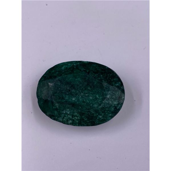 QUALITY ROUGH MINERAL POLISHED EMERALD 129.35CT - 25.87G, 37 X 27 X 16MM, BRAZIL