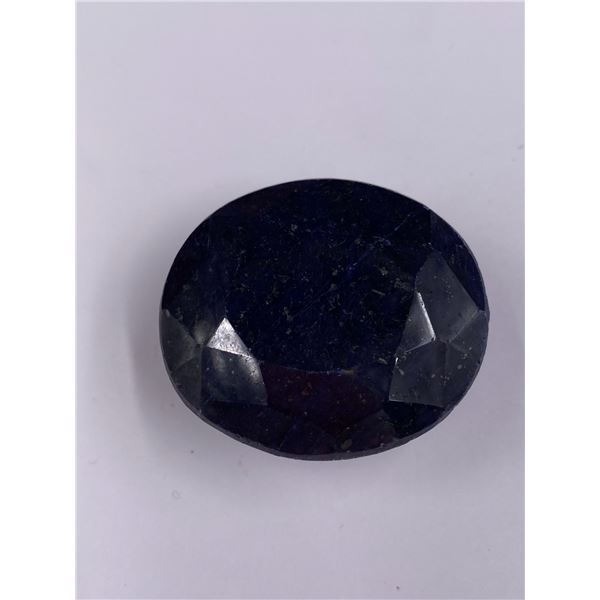 QUALITY ROUGH MINERAL POLISHED SAPPHIRE 475.75CT - 95.15G, 42 X 36 X 26MM, MADAGASCAR