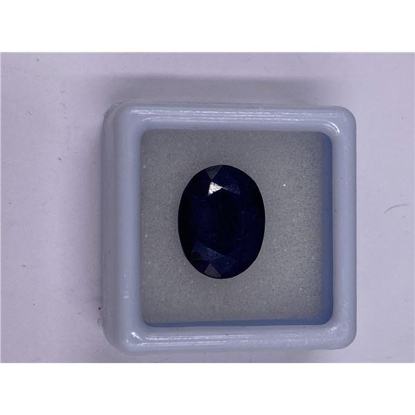 NATURAL BLUE SAPPHIRE 8.35CT, 13.60 X 10.79 X 4.83MM, DARK BLUE COLOUR, OVAL CUT, CLARITY SI1