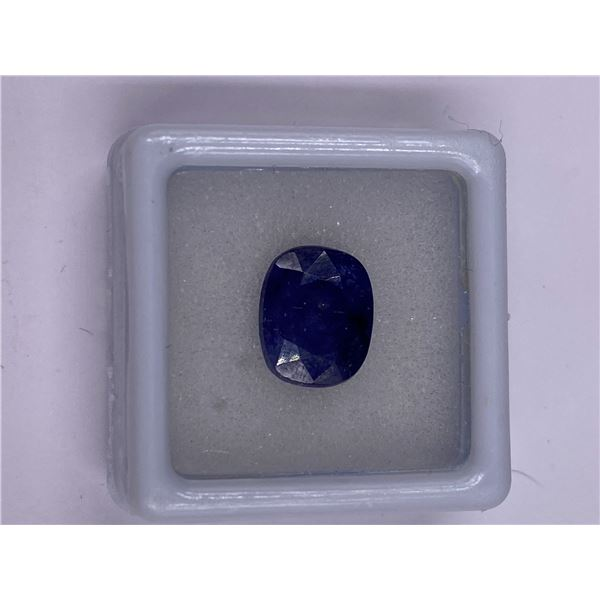 NATURAL BLUE SAPPHIRE 7.55CT, 11.03 X 9.03 X 6.46MM, DARK BLUE COLOUR, OVAL CUT, CLARITY I, ORIGIN