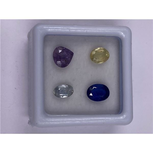 SUPERB SAPPHIRE MIX 3.55CT, 6 X 5 X 4MM, PINK, WHITE AND BLUE COLOUR, MIXED CUT, CLARITY VS, ORIGIN