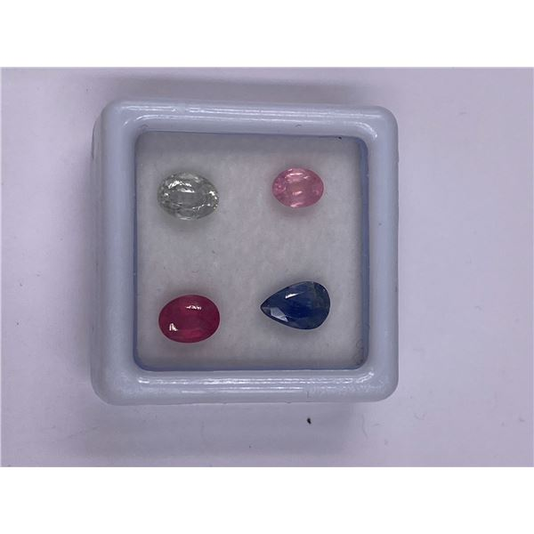 BEAUTIFUL SAPPHIRE MIX 2.75CT, 6 X 5 TO 7 X 4MM, PINK, WHITE AND BLUE COLOUR, MIX CUT, CLARITY VS,