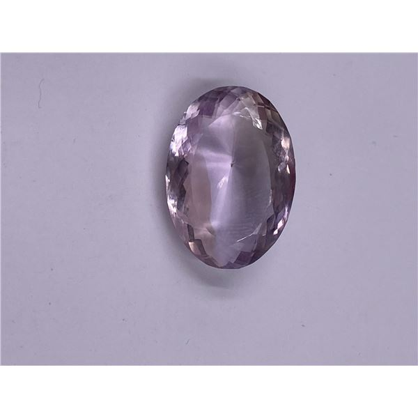 PINK AMETHYST 23.55CT, 22.80 X 16.21 X 9.94MM, PINK LAVENDER COLOUR, OVAL CUT, CLARITY IF, ORIGIN