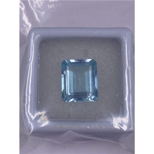 BEAUTIFUL BLUE TOPAZ 7.00CT, 12.13 X 10.01 X 5.63MM, SKY BLUE COLOUR, EMERALD CUT, CLARITY VVS,