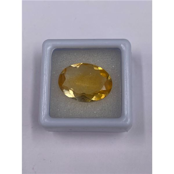 SUPERB GOLDEN CITRINE 9.26CT, 17.93 X 13.15 X 6.33MM, GOLDEN YELLOW COLOUR, OVAL CUT, CLARITY IF,