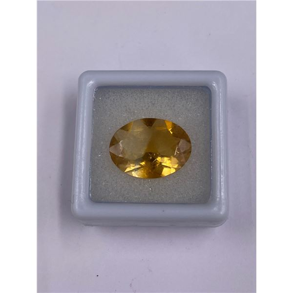 BEAUTIFUL GOLDEN CITRINE 6.26CT, 16.15 X 12.27 X 6.19MM, GOLDEN YELLOW COLOUR OVAL CUT, CLARITY IF,