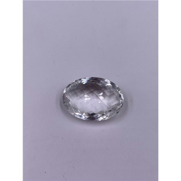 NATURAL CLEAR QUARTZ 29.30CT, 24.99 X 17.91 X 10.85MM, CLEAR TRANSPARENT, OVAL SHAPE, CLARITY IF,