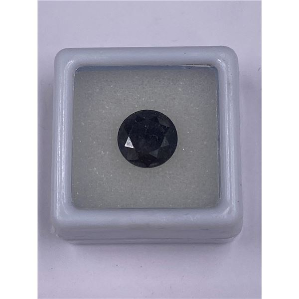 FABULOUS BLACK MOISSANITE 3.30CT, 9.62 X 6.51MM, BLACK COLOUR, BRILLIANT CUT ROUND, CLARITY OPAQUE,