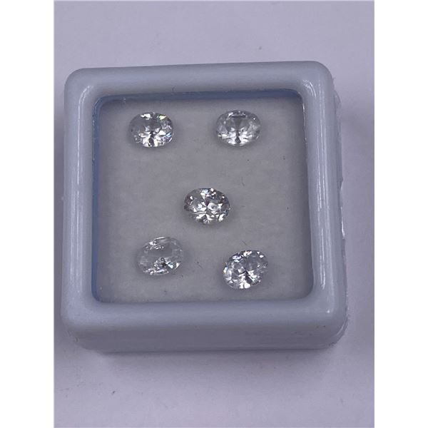 RARE WHITE ZIRCON (NOT CUBIC ZIRCONIA) 2.20CT, 5 X 3MM, COLOUR CLEAR TRANSPARENT, OVAL CUT, CLARITY