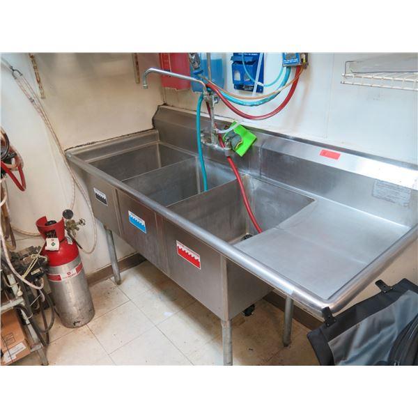 "Three-Basin Sink 69""W, 29""D, 38""H"