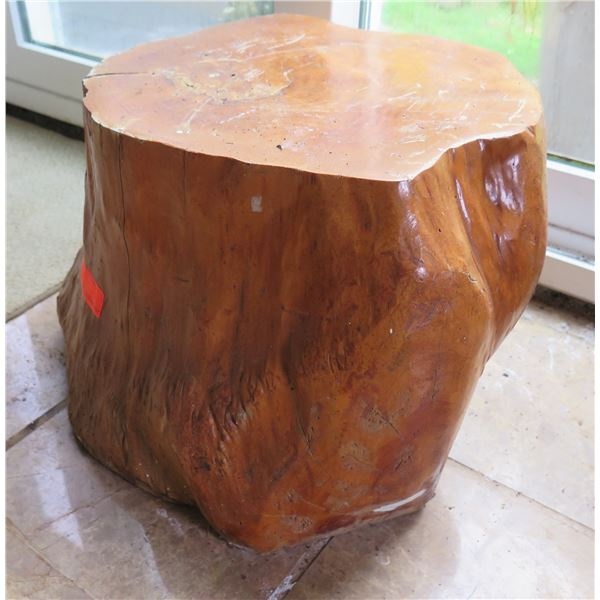 """Natural Wood Stand, Approx 19"""" Dia, 13"""" H"""