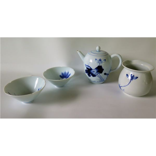 "Taiwanese Ceramic Tea Set 3.5"" Tall"