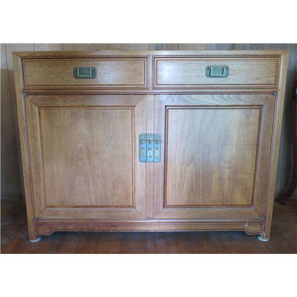 """Asian Wooden Buffet 48"""" x 19"""" x 36""""H"""