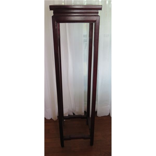 """Tall Square Wooden Stand w/ Straight Legs 12.5"""" x 12.5"""" x 47.5"""" H"""