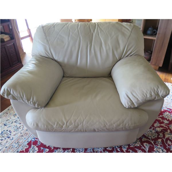 """White Synthetic Leather Armchair 43""""x 22""""x 33"""" Back Ht"""