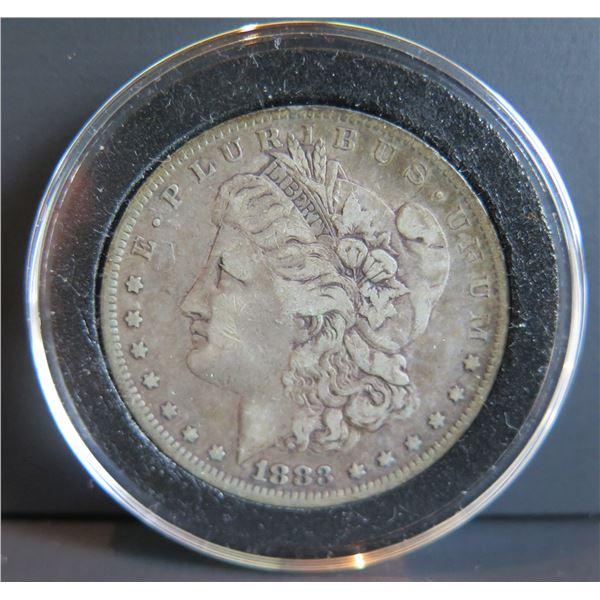 1883 Morgan Silver Dollar w/ Clear Case