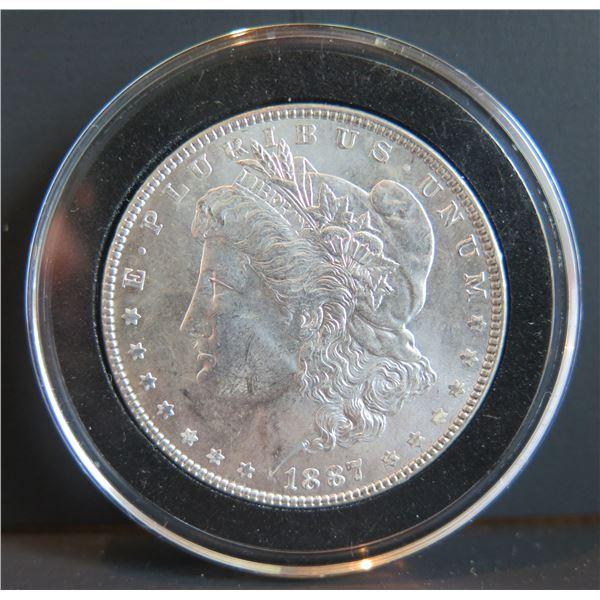 1887 Morgan Silver Dollar w/ Clear Case