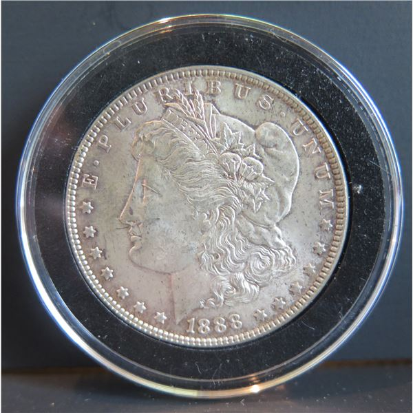 1888 Morgan Silver Dollar w/ Clear Case
