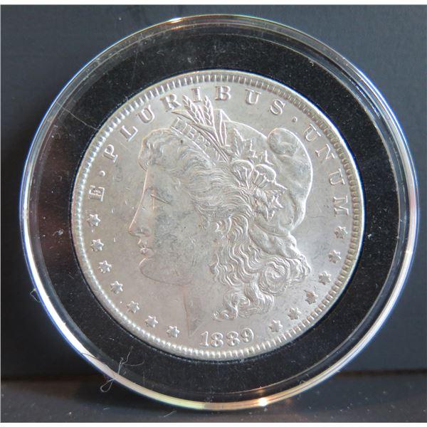 1889 Morgan Silver Dollar w/ Clear Case