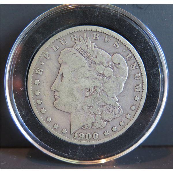 1900 Morgan Silver Dollar w/ Clear Case