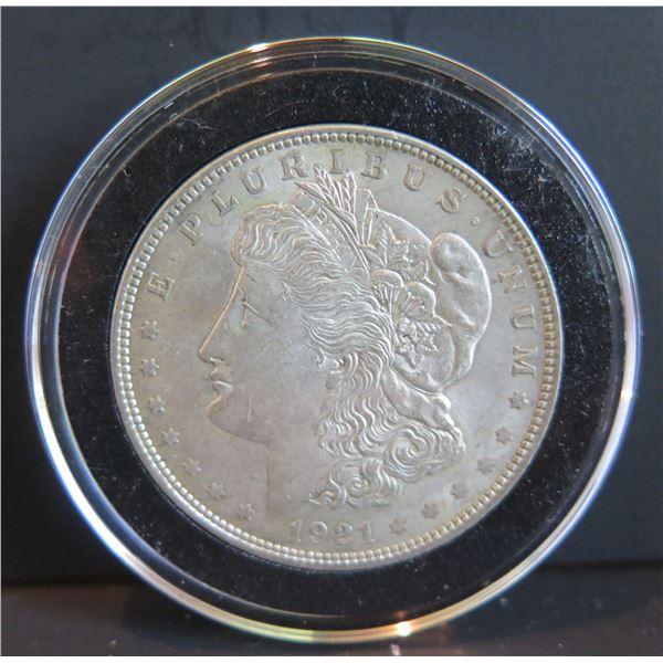 1921 Morgan Silver Dollar w/ Clear Case