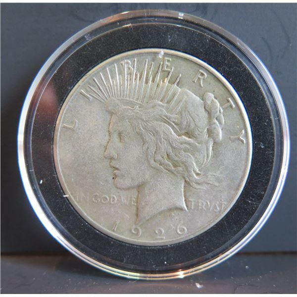 1926 Peace Silver Dollar w/ Clear Case