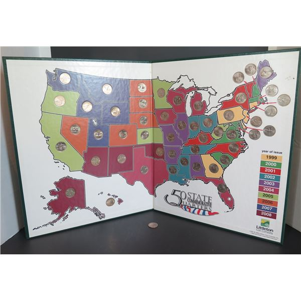 """50 States Quarter Collection Book 1998-2008 13""""x 16"""""""