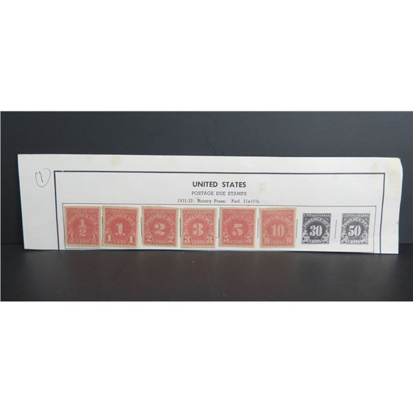 Qty 8 1931-32 Rotary Press Postage Stamps