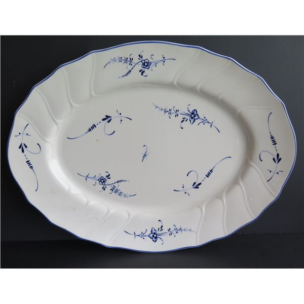 "Villeroy & Boch Serving Platter ""Vieux Luxembourg"" Blue & White"