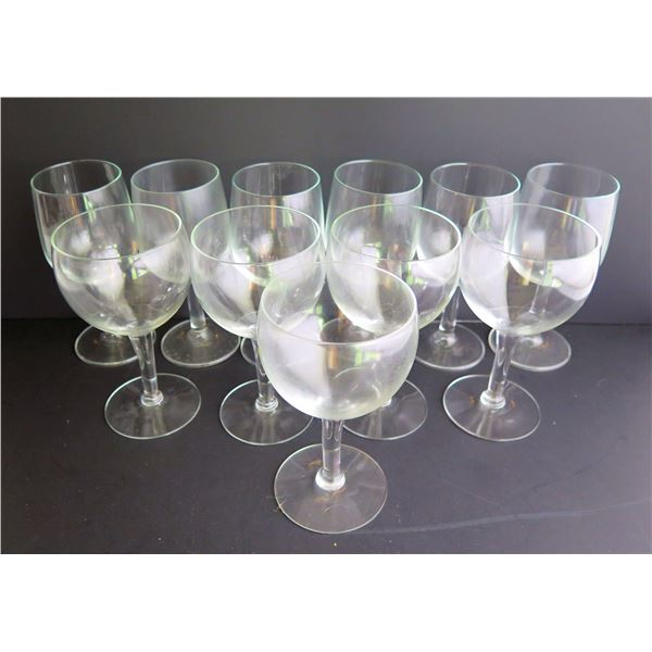 Qty 11 Wineglasses, Large & Small Sizes, Clear