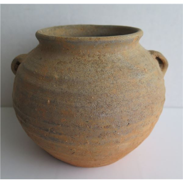 """Clay Open Pot, Brown, 6"""" Tall"""