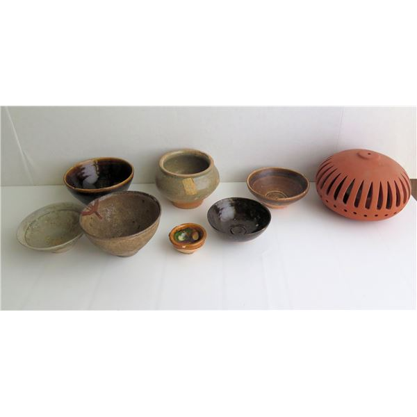 Qty 8 Misc. Ceramic Bowls & Candle Holder
