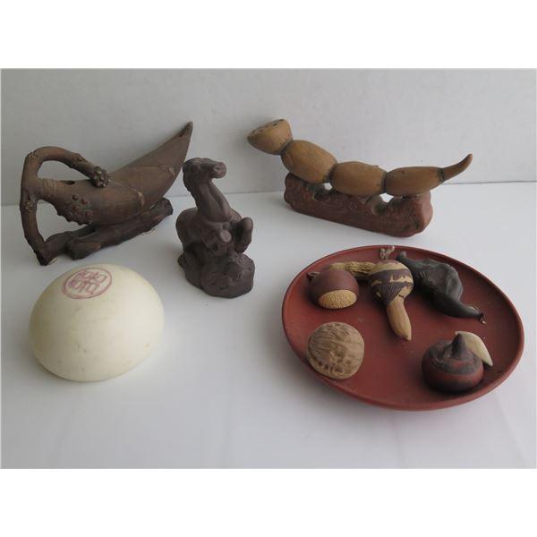 Ceramic Figurines w/ Maker's Mark, Various Sizes