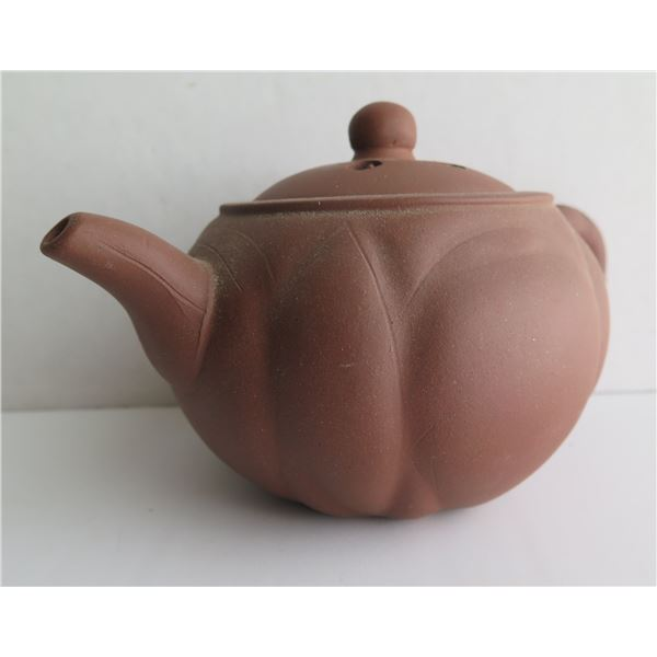 Chinese Yixing Clay Teapot  Brown Maker's Mark