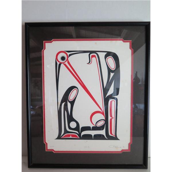 "Framed Art, ""Nativity"" Limited Edition J B Hunt Signed Print 18"" x 21"""