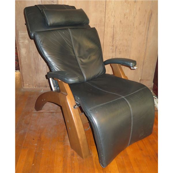 Human Touch Feel Better Black Leather Recliner Model PC-095